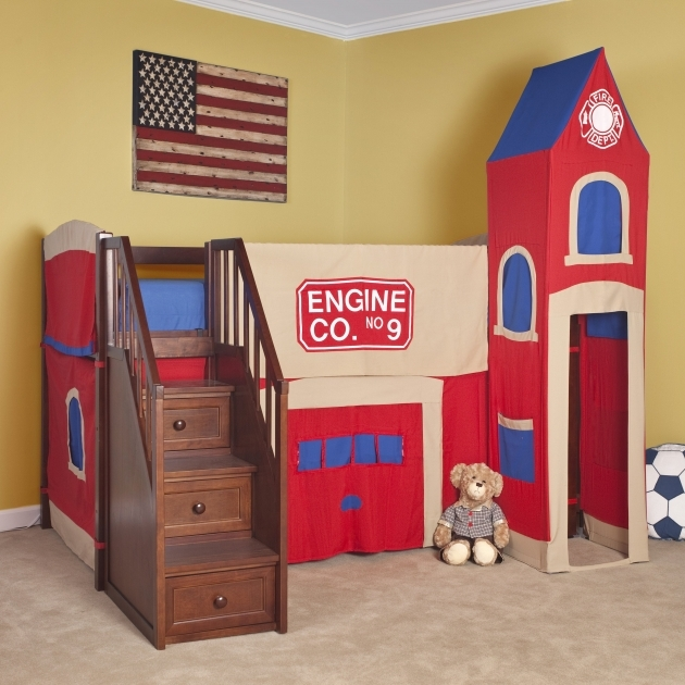Toddler Bunk Beds With Stairs Over Full With Drawers Picture 19