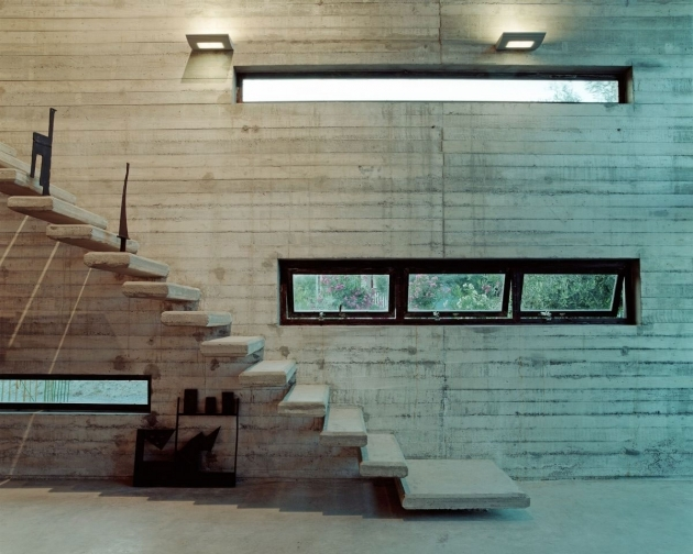Wall Mounted Stairs Without Railings Workspace Art Warehouse With Bare Walls Ideas Photo 97