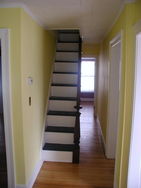Attic Staircase Ideas In Hallway Image 13