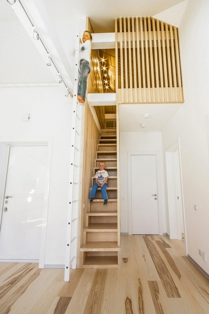 Attic Staircase Ideas Interior Design And Decoration Using Solid Oak Wood Photos 09