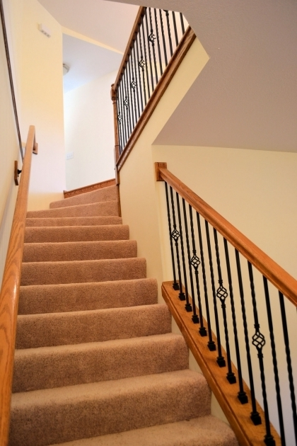 Wood Handrail Decorative Carpeting Stairs With Spindles Metal Photo 75