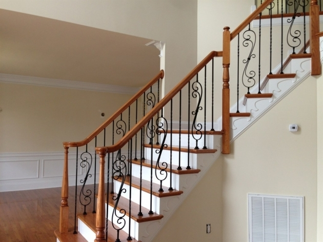 Wrought Iron Balusters Stairs Style  Picture 74