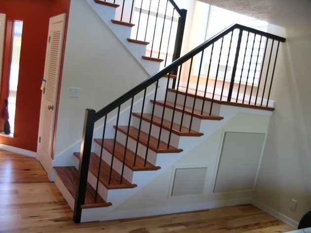 Contemporary Tigerwood Treads Plain Wrought Iron Images 31