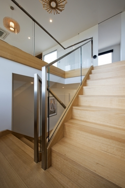 Glass Balustrade Timber Stainless Steel Handrails For Stairs Interior Images 99