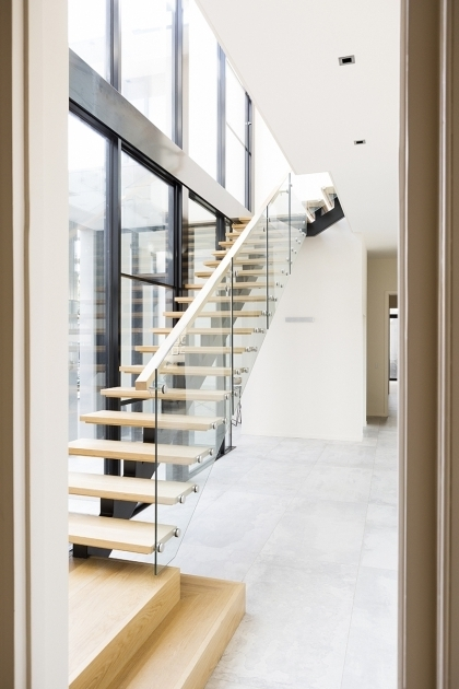 Staircase Timber Stairs Tasmanian Oak Glass Handrails For Stairs Interior Pic 17