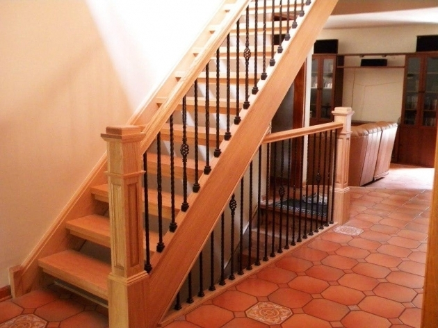 Wrought Iron Handrails For Stairs Interior Constructions  Pic 26
