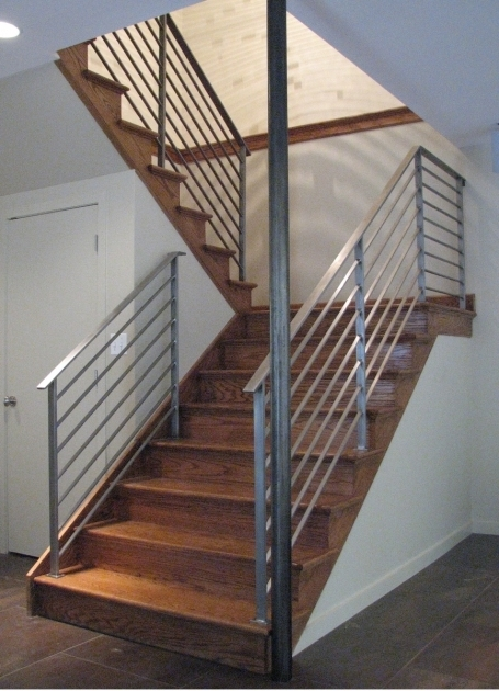 Modern Stairs Railing Designs In Steel Concept Interior Minimalist Home Decoration Images 24