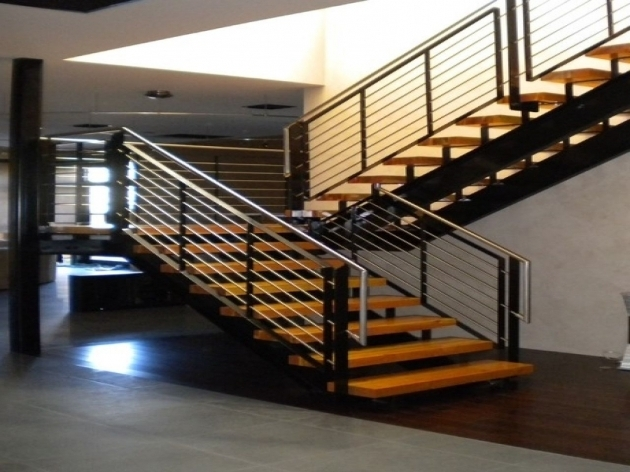 Modern Stairs Railing Designs In Steel Pictures 67