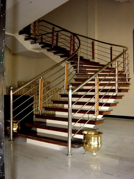 Steel Handrail For Modern Stairs Railing Designs In Steel Home Decorations Photo 05