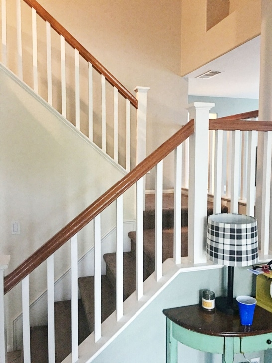 Painting Stair Railing Ideas How To Paint Your Stair Railing And Banister