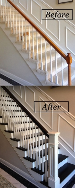 Painting Stair Railing Ideas Staircase Railing Remodeling And Redesign