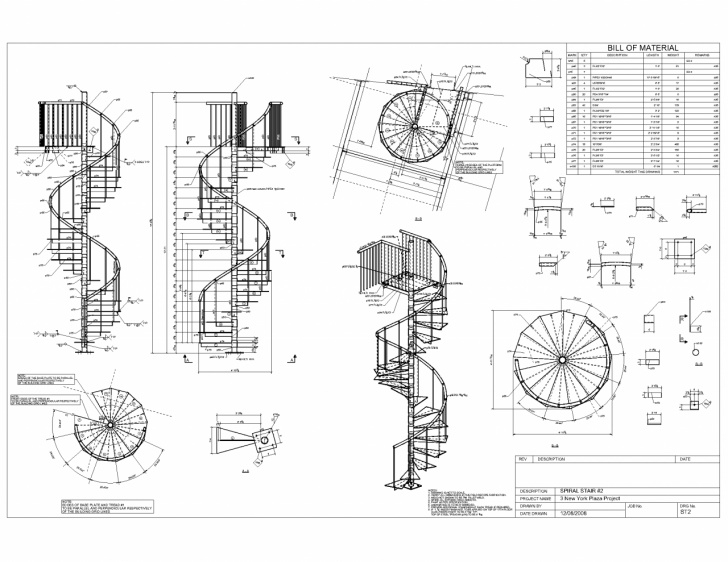 Small Spiral Staircase Sizes Small Spiral Staircases Sizes Plan Drawing Advanced Detailing Corp Steel
