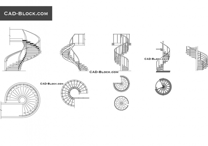 Small Spiral Staircase Sizes Small Spiral Staircases Sizes Spiral Stairs Cad Block Free Drawings