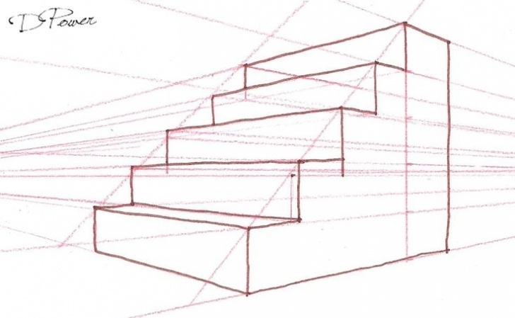 2 Point Perspective Stairs Drawing Stairs In 2-Point Perspective. -2017 In 2019 Photo 148