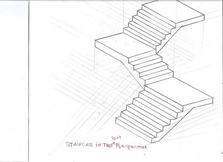 2 Point Perspective Stairs Staircase In Two Point Perspective. | Danis Rodriguez | Flickr Image 758