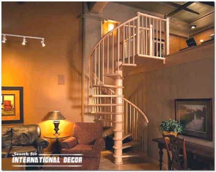 Average Spiral Staircase Dimensions Wooden Staircase Types And Design Features Picture 476