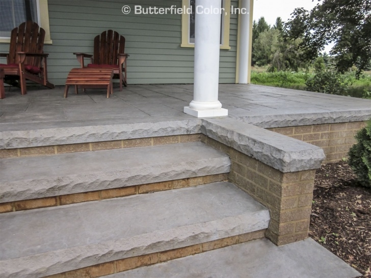 Cement Stairs And Ceramics Butterfield Color 4″ Cantilevered Cut Stone Step Liner Photo 211