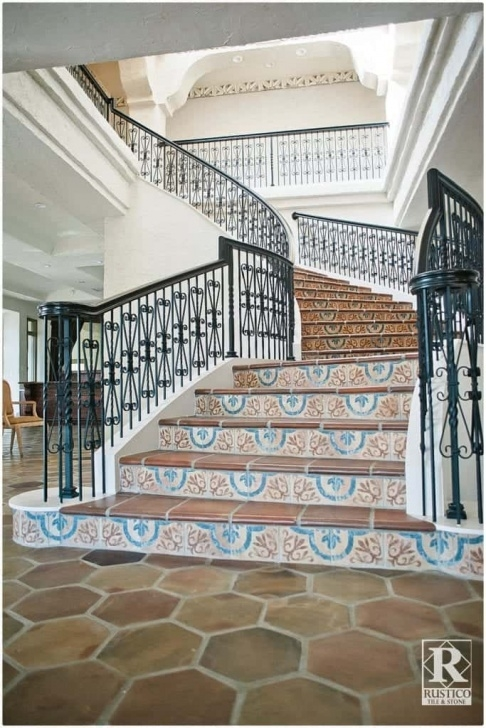Cement Stairs And Ceramics Mexican Tile Floor And Decor - Rustico Tile & Stone Photo 567