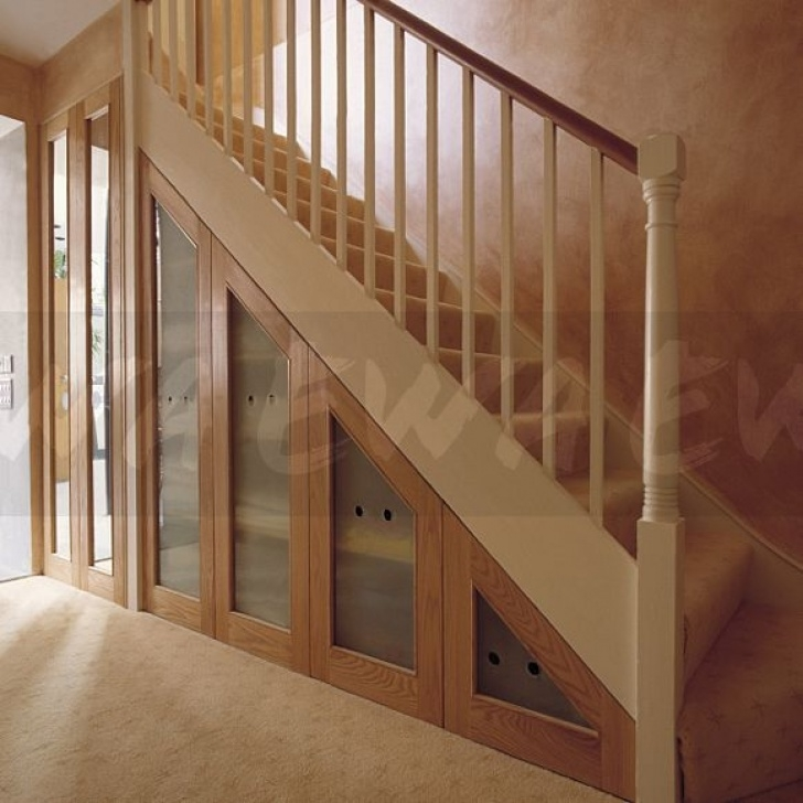 Cupboard Under The Stairs Ikea Image: Staircase With Understairs Concealed Storage Photo 450