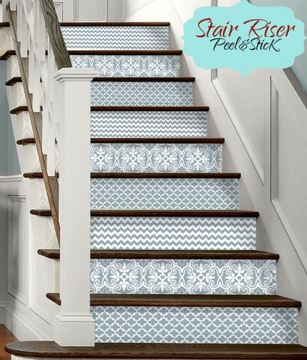 Decorative Stair Riser Covers 15 Strips Of Stair Riser Vinyl Decal Removable Sticker Peel Picture 064