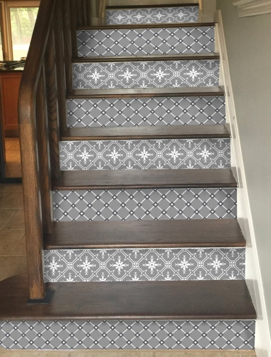 Decorative Stair Riser Covers Stair Riser Vinyl Strips Removable Sticker Peel & Stick For 15 Image 736
