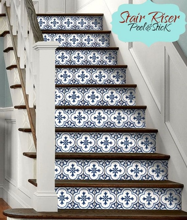 Decorative Tiles For Stair Risers 15Steps Stair Riser Vinyl Strips Removable Sticker Peel Photo 545