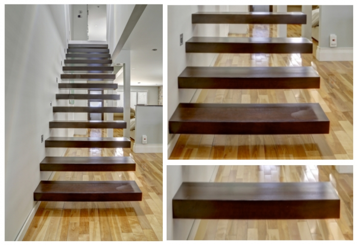 Floating Stair Tread Brackets Floating Staircase With Wooden Tread Boards Photo 286