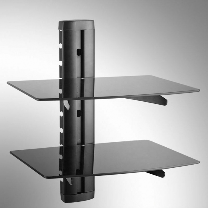 Floating Stair Wall Mounting Brackets Double 2 Floating Glass Shelves Wall Mount Bracket Ps Xbox Image 800