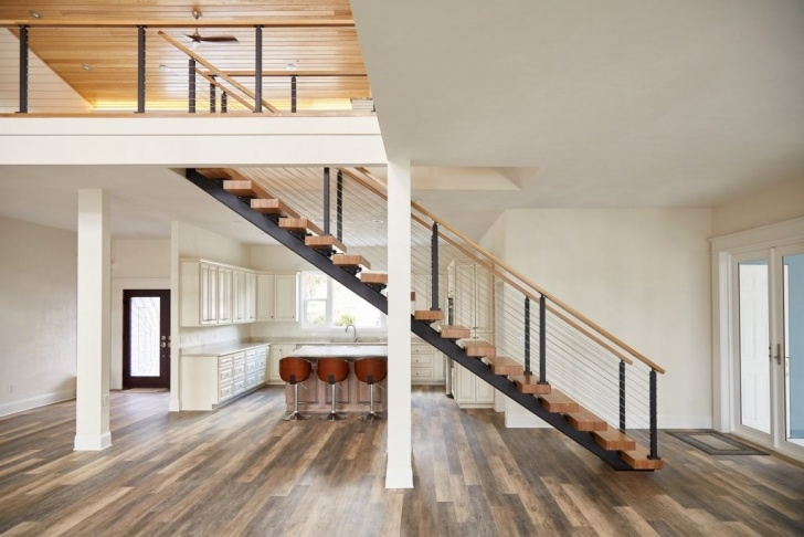 Floating Staircase Ideas Floating Stairs Design: Straight, 90° Turn, Switchback Picture 873
