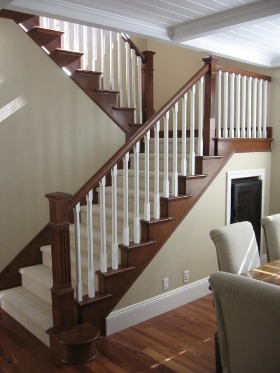Floor To Ceiling Stair Rail Designs Maybe To Update Stair Railing To Complement Mocha Hardwood Photo 004