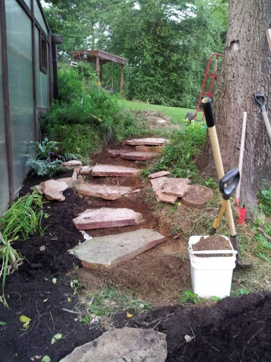 Hillside Stair Ideas Carving Rustic Stone Steps Out Of Hillside With Flagstone Picture 473