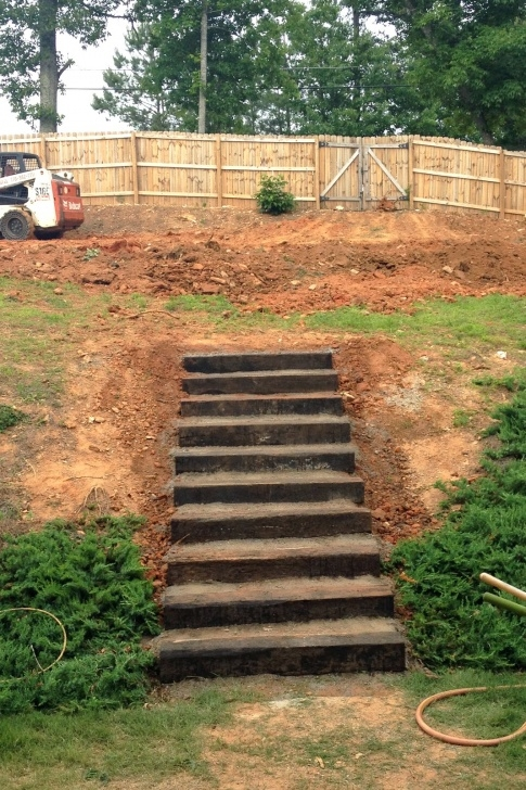 Hillside Stair Ideas The Counting Courseys: Backyard Demolition Image 405