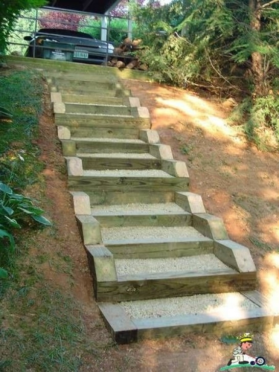 How To Build A Stair Way Into A Hill Pin By Kimmi Curnow On Slopes/Steps/Walls | Sloped Garden Image 155