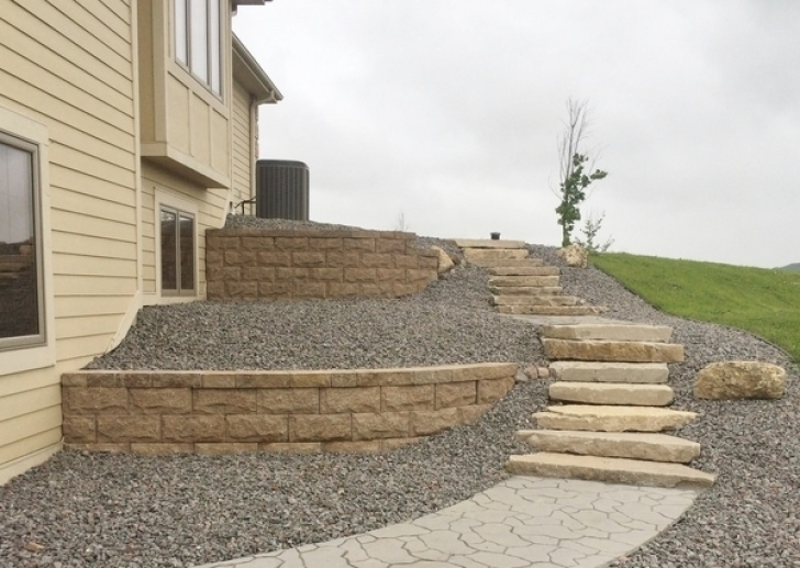 How To Build A Stair Way Into A Hill Retaining Wall Pictures Of Slopes Photo 676
