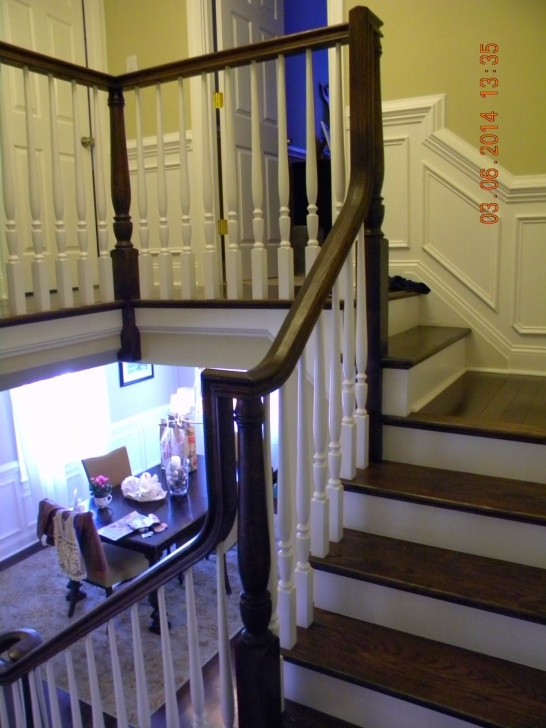How To Change Stairway Spindles Wood Stairs And Rails And Iron Balusters: Install Repair Picture 833