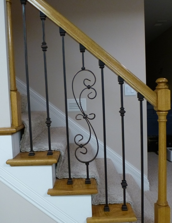 How To Replace Stair Spindle Replacing Wooden Stair Balusters (Spindles) With Wrought Photo 150