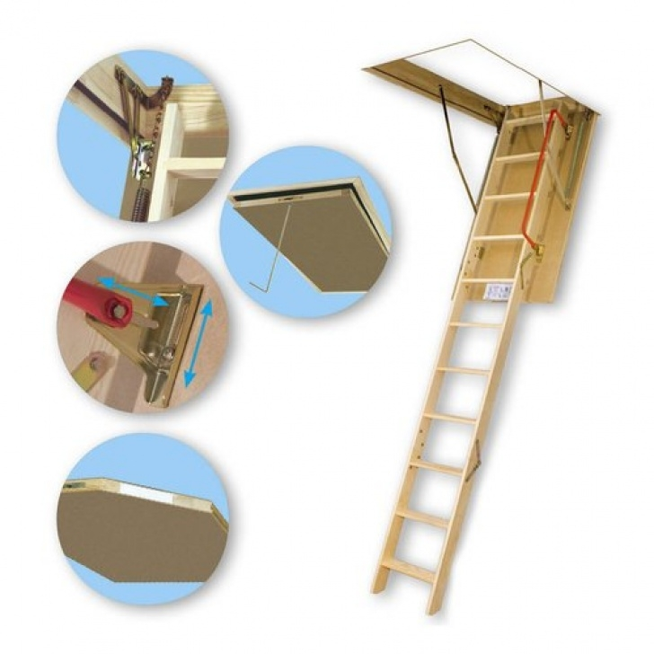 Lowes Attic Stairs Fakro 53.5-Ft Wood 350-Lb Attic Ladder At Lowes Image 710