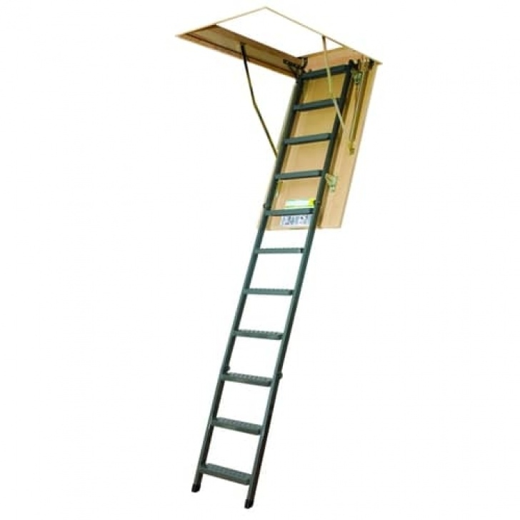 Lowes Attic Stairs Fakro Lms- Insulated 7.92-Ft To 10.08-Ft. (Rough Opening Image 773