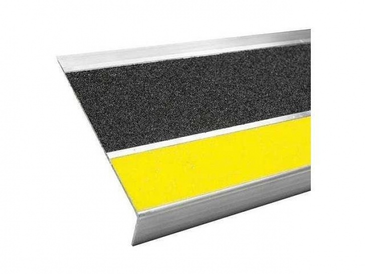 Metal Stair Tread Covers Stair Tread Cover,Black,48In W,Aluminum Bold Step Image 321