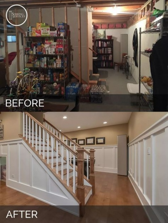 Opening Up A Staircase Before And After A Naperville Basement Before & After Pictures (With Images Photo 774