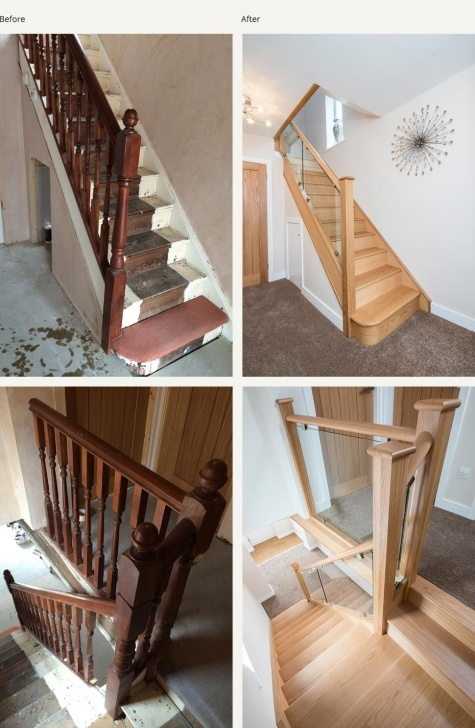 Opening Up A Staircase Before And After Before And After Glass And Wood Staircase Renovations Photo 245