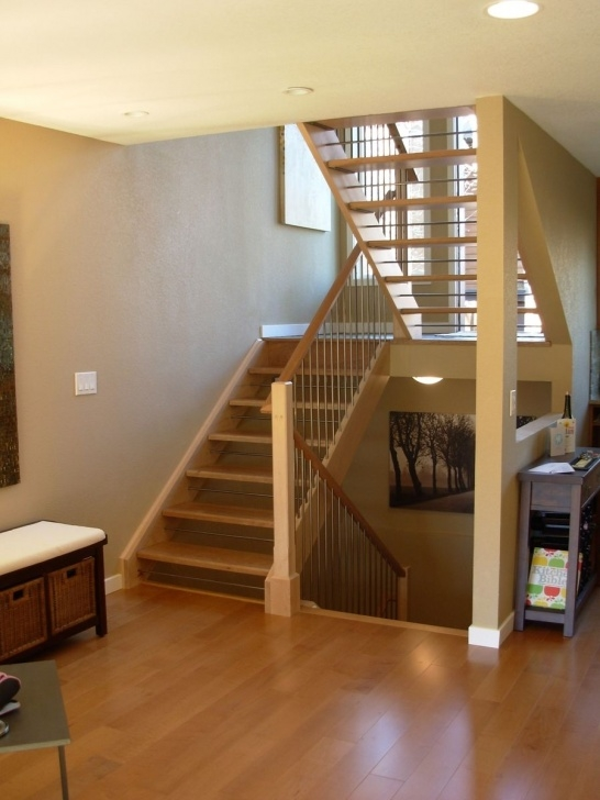 Opening Up A Staircase Before And After Custom Made Open Staircase By Dancing Grains Woodworks Image 006