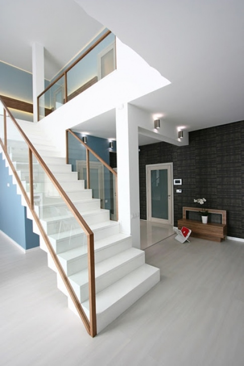 Simple Interior Stair Design Blueprints Trends Of Stair Railing Ideas And Materials (Interior Image 081