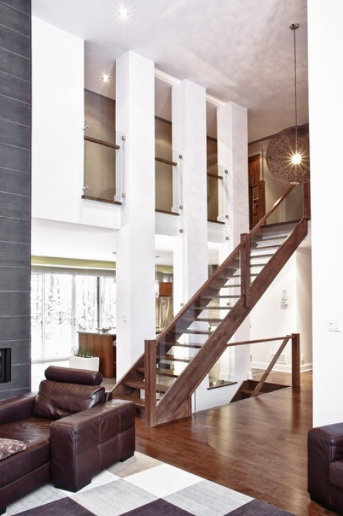 Simple Stairs Design For Home Model House And Custom Built - Modern - Living Room Image 706