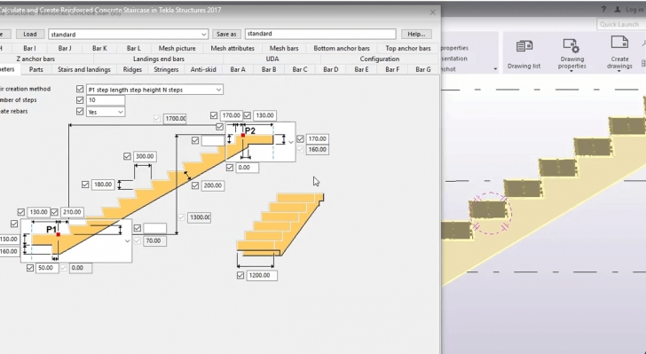Staircase Structural Design Calculation Calculate And Create Reinforced Concrete Staircase In Image 341
