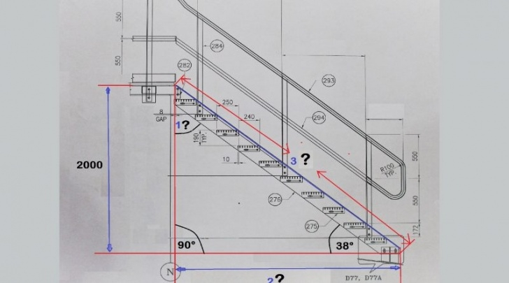 Staircase Structural Design Calculation Staircase Degree Calculation Formula/Structure Steel Picture 974