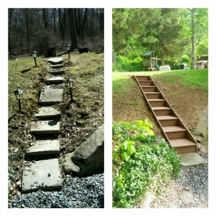 Stairs For Hill How To Build Wooden Steps On A Hill   Tcworks Image 976