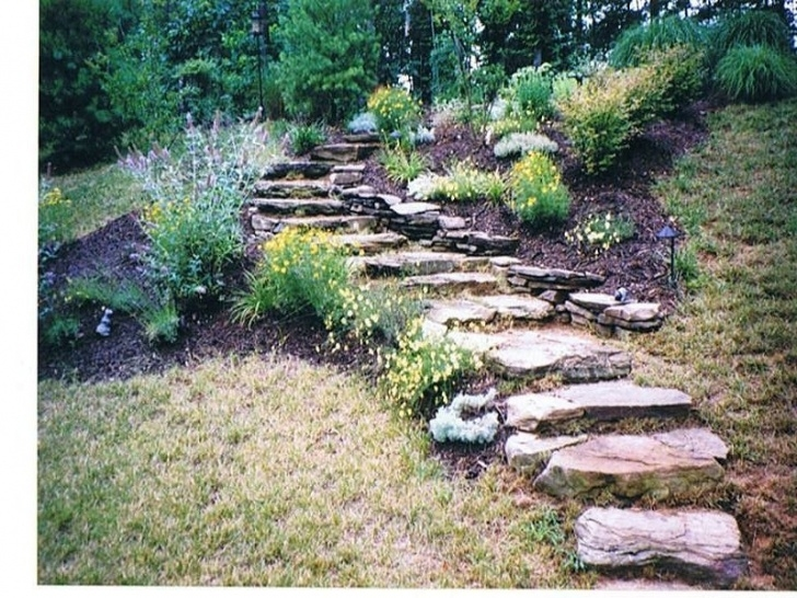 Stairs For Hill Stone Step Landscaping Designs Image 872