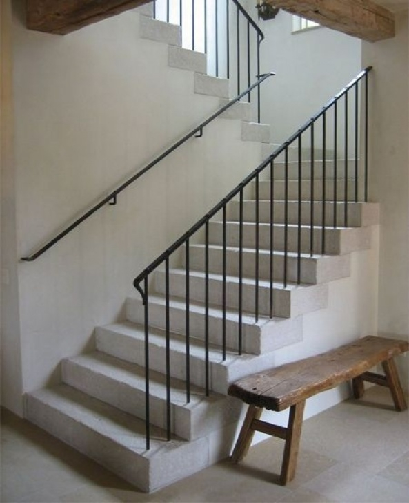 Stairs Simple Design French Railing Design Simple And Attached To Outside Picture 053