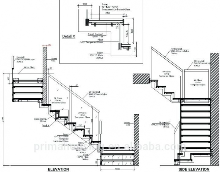 Steel Stair Case And Its Dimension Image Result For Stair Section | Floating Stairs Image 171